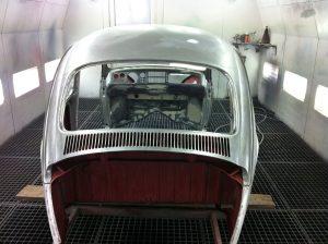 Oldtimer Restaurierung VW Käfer - Lackierung Heck